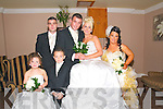 O'Brien Wedding : Naoimi O'Neill, mini bride, Shane Collins, mini groom, Michael O'Brien, Martin O'Brien, Priscilla O'Brien & Catherine Coffey, Castleisland.
