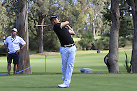 Jin Jeong (KOR) on the 2nd tee during Round 1 of the ISPS HANDA Perth International at the Lake Karrinyup Country Club on Thursday 23rd October 2014.<br /> Picture:  Thos Caffrey / www.golffile.ie