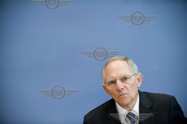 Wolfgang Schaeuble, Federal Minister of Finance.