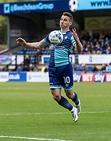 Matthew Bloomfield of Wycombe Wanderers during the Sky Bet League 2 match between Wycombe Wanderers and Mansfield Town at Adams Park, High Wycombe, England on the 14th April 2017. Photo by Liam McAvoy.