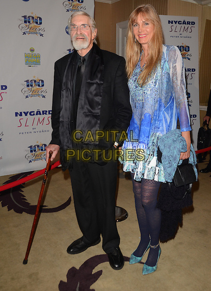 02 March 2014 - Beverly Hills, California - Martin Landau &amp; guest .  24th Annual Night of 100 Stars Oscar Viewing Party celebrating the 86th Annual Academy Awards held at the Beverly Hills Hotel.  <br /> CAP/ADM/BT<br /> &copy;Birdie Thompson/AdMedia/Capital Pictures