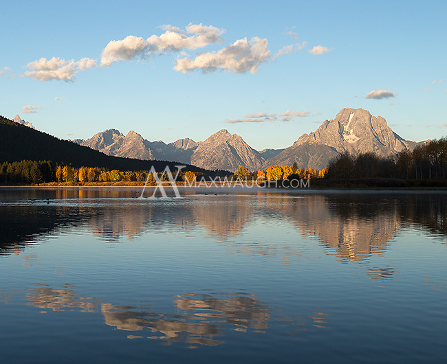 The classic morning vista at Oxbow Bend.
