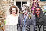 Pictured at the halloween party in Kate Kearneys Cottage, Beaufort, on Saturday night were Joann O'Shea, Chris Devine and Rose Mangan.  ..