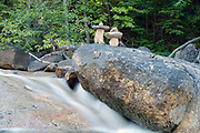 Random pile of rocks along the Swift River near the kancamagus Highway (route 112) in the White Mountains, New Hampshire.