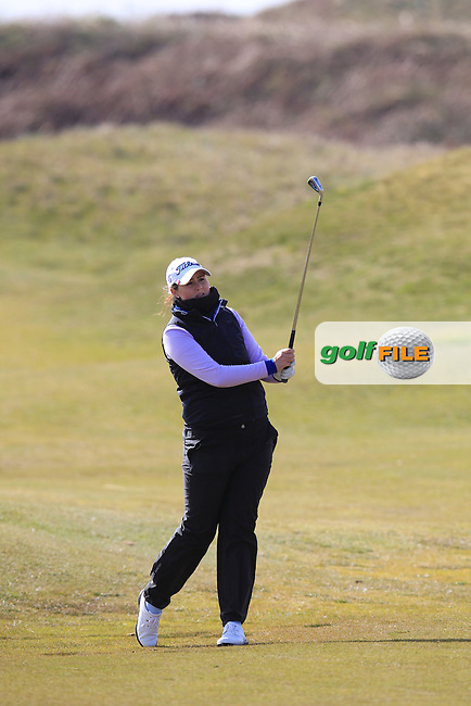 Olivia Mehaffey (Royal Co. Down) on the 15th during the final round of the Irish woman's Open stroke play championship, The Island Golf Club, Donate, Co Dublin. 10/04/2016.<br /> Picture: Golffile | Fran Caffrey<br /> <br /> <br /> All photo usage must carry mandatory copyright credit (&copy; Golffile | Fran Caffrey)