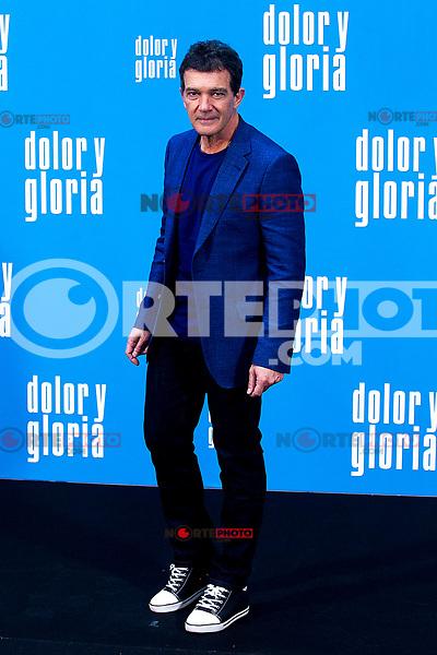 The actor Antonio Banderas  attends the photocall of the movie 'Dolor y gloria' in Villa Magna Hotel, Madrid 12th March 2019. (ALTERPHOTOS/Alconada) /NortePhoto.con NORTEPHOTOMEXICO