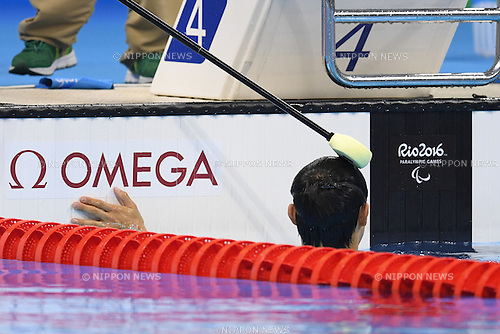 Keiichi Kimura (JPN),<br /> SEPTEMBER 14, 2016 - Swimming : <br /> Men's Butterfly S11 Final <br /> at Olympic Aquatics Stadium<br /> during the Rio 2016 Paralympic Games in Rio de Janeiro, Brazil.<br /> (Photo by AFLO SPORT)