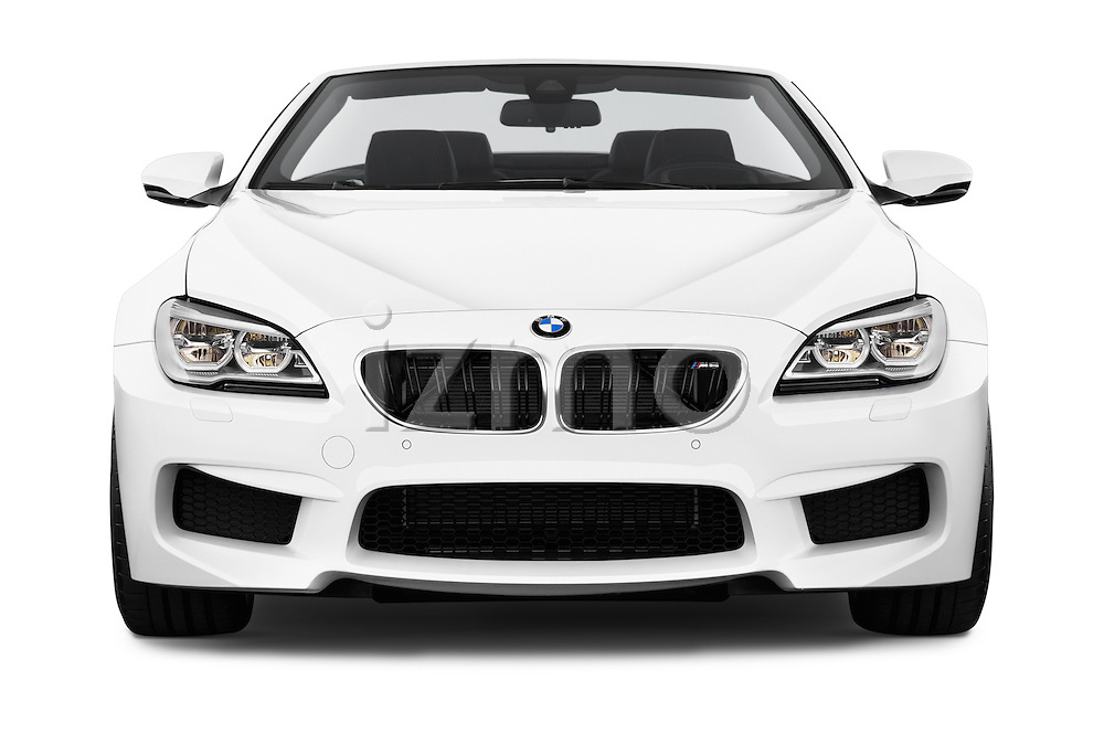 Car photography straight front view of a 2016 BMW M6 Convertible - 2 Door Convertible Front View