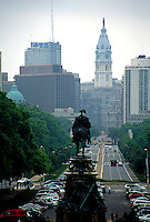 Broad Street view to center city Philadelphia