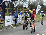 Philip Laverty from Strata 3 Cycling wins the A1 section of the Coombes Connor Memorial race from  Paul Forrestal Orwell Wheelers in second and Jody Wright Phoenix Cycle Club Belfast in third. The race was hosted by Drogheda Wheelers.  Photo:Colin Bell/pressphotos.ie