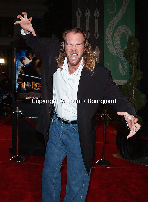"Tyler Mane (X-Men) arriving at the premiere of ""Harry Potter and the Chamber of Secrets""  at the Westwood Village Theatre in Los Angeles. November 14, 2002.             -            ManeTyler_XMen01.jpg"