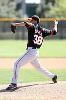 Hector Correa, San Francisco Giants 2010 minor league spring training..Photo by:  Bill Mitchell/Four Seam Images.