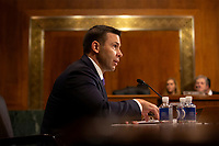 Acting Secretary of the United States Department of Homeland Security Kevin McAleenan testifies before the U.S. Senate Judiciary Committee on Capitol Hill in Washington D.C., U.S. on June 11, 2019. Photo Credit: Stefani Reynolds/CNP/AdMedia