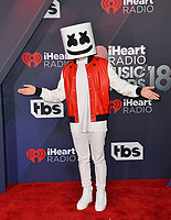 Marshmello at the 2018 iHeartRadio Music Awards at The Forum, Los Angeles, USA 11 March 2018<br /> Picture: Paul Smith/Featureflash/SilverHub 0208 004 5359 sales@silverhubmedia.com