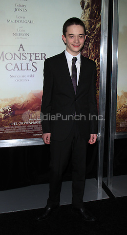 NEW YORK, NY December 067: Lewis MacDougall| at  Focus Features present New York  Premiere of A Monster Calls  at the AMC Loews Lincoln Square in New York .December 07, 2016. Credit:RW/MediaPunch