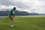Paul Cutler (AM) (NIR) chips onto the 4th green during Day 3 Saturday of The Irish Open presented by Discover Ireland at Killarney Golf & Fishing Club on 30th July 2011 (Photo Fran Caffrey/www.golffile.ie)