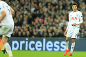 1st November 2017, Wembley Stadium, London, England; UEFA Champions League, Tottenham Hotspur versus Real Madrid; Dele Alli of Tottenham Hotspur in front of a mastercard advertisement