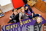 Kerry Women to Rise will hope a series of events in Tralee town Square on the 28th of November. Pictured were: Gillian Wharton Slattery, Vera O'Leary, Joan Courtney and Bernie Moore.