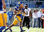 BROOKINGS, SD - NOVEMBER 5:  Isaac Wallace #35 from South Dakota State walks into the end zone for a touchdown in front of Matt Rush #4 form Missouri State in the first half Saturday afternoon at Dana J. Dykhouse Stadium in Brookings. (Photo by Dave Eggen/Inertia)
