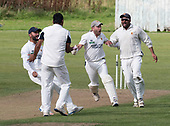 Cricket Scotland National League Final - Prestwick CC V Heriots CC at Meikleriggs, Paisley (Ferguslie CC) - Prestwick celebrate their victory - picture by Donald MacLeod - 02.09.2017 - 07702 319 738 - clanmacleod@btinternet.com - www.donald-macleod.com