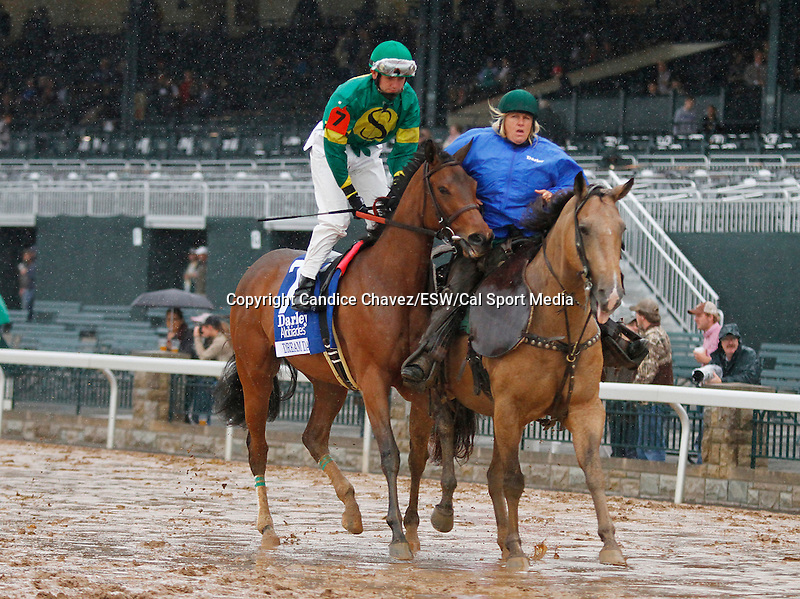 "October 02, 2015:  Dream Dance and jockey Brian Hernandez Jr. in the 64th running of The Darley Alcibiades (Grade 1) $400,000 ""Win and You're In Juvenile Fillies Division"" at Keeneland for trainer Neil Howard, and owner Stoneway Farm.   Candice Chavez/ESW/CSM"