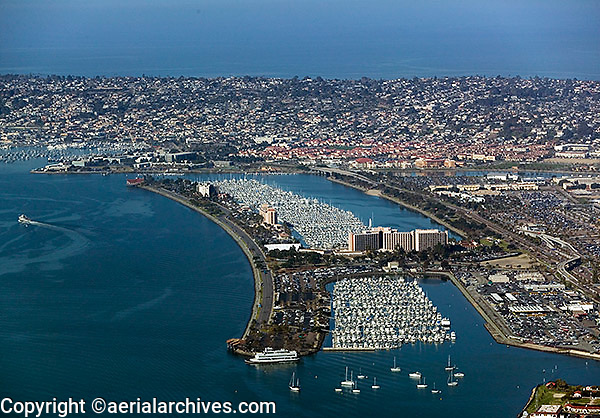 aerial photograph  Harbor Island San Diego California