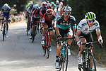 Benjamin King (USA) Team Dimension Data and Rafal Majka (POL) Bora-Hansgrohe part of the breakaway group during Stage 13 of the La Vuelta 2018, running 174.8km from Candas, Carreno to Valle de Sabero, La Camperona, Spain. 7th September 2018.<br /> Picture: Unipublic/Photogomezsport | Cyclefile<br /> <br /> <br /> All photos usage must carry mandatory copyright credit (&copy; Cyclefile | Unipublic/Photogomezsport)