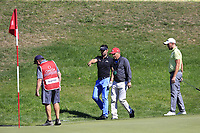 Lee Slattery (ENG) has to take a penalty drop at the 13th green during Sunday's Final Round 4 of the 2018 Omega European Masters, held at the Golf Club Crans-Sur-Sierre, Crans Montana, Switzerland. 9th September 2018.<br /> Picture: Eoin Clarke | Golffile<br /> <br /> <br /> All photos usage must carry mandatory copyright credit (© Golffile | Eoin Clarke)