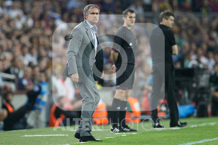 Real Madrid's Jose Mourinho during la Liga match on october 7th 2012. ..Photo: Cesar Cebola  / ALFAQUI