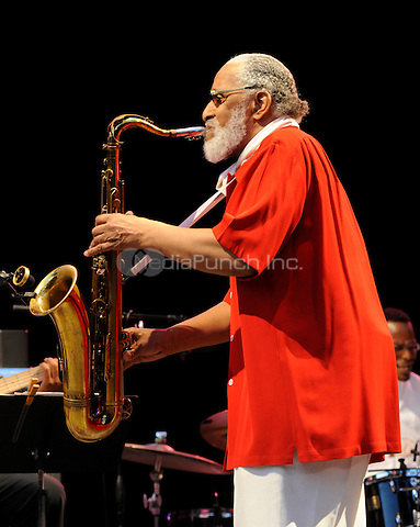 Sonny Rollins, one of the world's most celebrated saxophonists, performing live at Central Park Summerstage in New York City on August 6, 2008. © David Atlas / MediaPunch