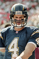 MIAMI, FL - DEC 19, 1999:  Quarterback Jim Harbaugh, #4, is shown on the sidelines as the Miami Dolphins defeat his San Diego Chargers 12-9 at Joe Robbie Stadium, in Miami, FL.(Photo by Brian Cleary/www.bcpix.com)