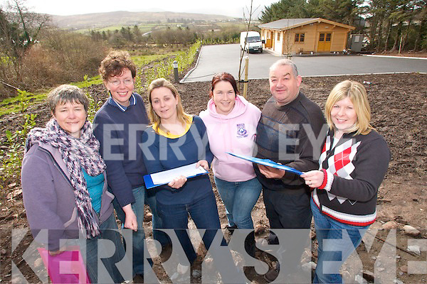 CELEBRATIONS: Staff at the Comhchoiste Ghaeltachta Uibh Rathaigh pictured outside their new premises close to Waterville which will be officialy opened on Saturday 26th of April..L/r. Ann Boland, Caitlin Breathnach, Eimear Ni Mhurchu, Debra Ni Shuilleabhain, Diarmuid O'Se and Micheailin Ni Shuilleabhain.   Copyright Kerry's Eye 2008