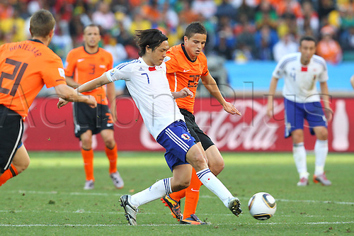Yasuhito Endo (JPN), .JUNE 19, 2010 - Football : .2010 FIFA World Cup South Africa .Group Match -Group E- .between Netherlands 1-0 Japan .at Durban Stadium, Durban, South Africa. .