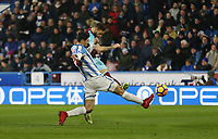 West Ham United's Marko Arnautovic scores his side's second goal <br /> <br /> Photographer Rob Newell/CameraSport<br /> <br /> The Premier League - Huddersfield Town v West Ham United - Saturday 13th January 2018 - John Smith's Stadium - Huddersfield<br /> <br /> World Copyright &copy; 2018 CameraSport. All rights reserved. 43 Linden Ave. Countesthorpe. Leicester. England. LE8 5PG - Tel: +44 (0) 116 277 4147 - admin@camerasport.com - www.camerasport.com