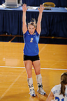 20 November 2008:  Middle Tennessee defensive specialist Ashley Waugh (2) celebrates a winning point during the Middle Tennessee 3-0 victory over Arkansas State in the first round of the Sun Belt Conference Championship tournament at FIU Stadium in Miami, Florida.