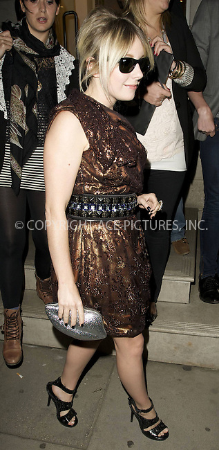 WWW.ACEPIXS.COM . . . . .  ..... . . . . US SALES ONLY . . . . .....May 26 2010, London....Little Boots leaving the Matthew Williamson Belvedere Party on May 26 2010 in London......Please byline: FAMOUS-ACE PICTURES... . . . .  ....Ace Pictures, Inc:  ..tel: (212) 243 8787 or (646) 769 0430..e-mail: info@acepixs.com..web: http://www.acepixs.com