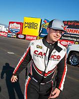 Feb 11, 2019; Pomona, CA, USA; NHRA top fuel driver Steve Torrence during the Winternationals at Auto Club Raceway at Pomona. Mandatory Credit: Mark J. Rebilas-USA TODAY Sports