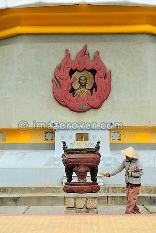 Asia, Vietnam, Nha Trang. Long Son Pagoda. Giant Buddha.