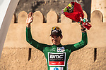 Greg Van Avermaet (BEL) BMC Racing Team retains the Points Green Jersey at the end of Stage 5 of the 2018 Tour of Oman running 152km from Sam'il to Jabal Al Akhdhar. 17th February 2018.<br /> Picture: ASO/Muscat Municipality/Kare Dehlie Thorstad | Cyclefile<br /> <br /> <br /> All photos usage must carry mandatory copyright credit (&copy; Cyclefile | ASO/Muscat Municipality/Kare Dehlie Thorstad)