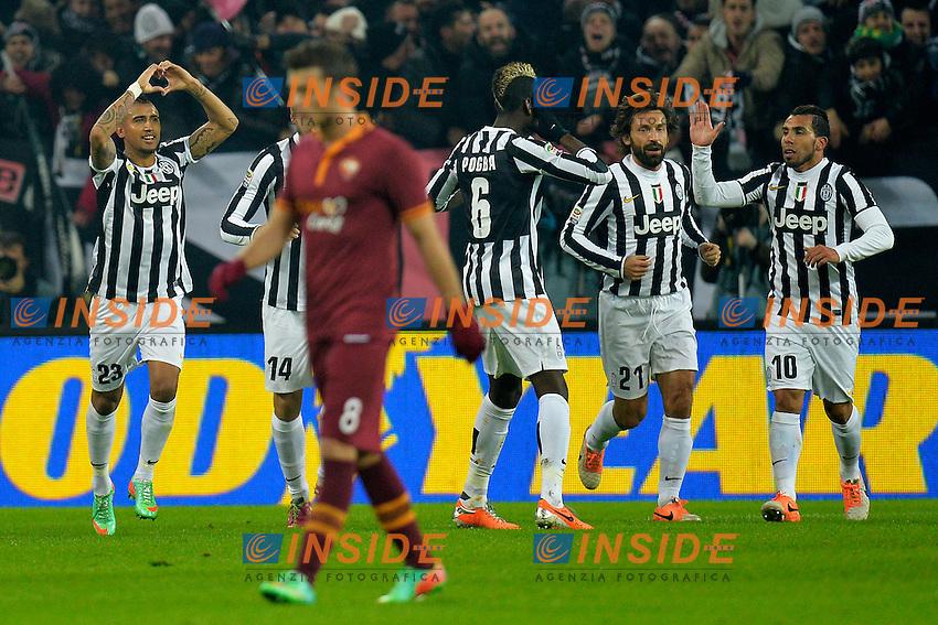Esultanza Arturo Vidal dopo il gol 1-0. Goal celebration <br /> Torino 05-01-2014 Juventus Stadium - Football Calcio Serie A 2013/2014 Juventus - As Roma Foto Andrea Staccioli / Insidefoto