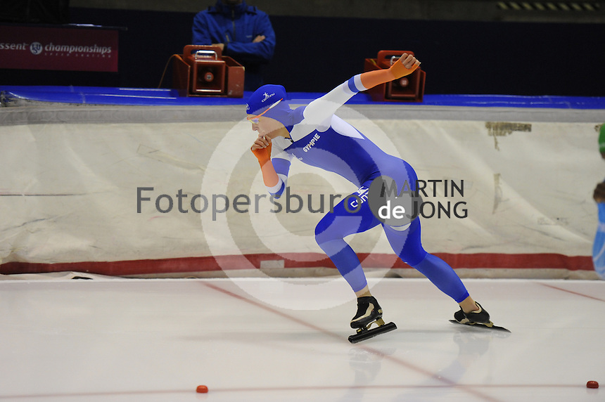 SCHAATSEN: HEERENVEEN: 25-10-2014, IJsstadion Thialf, Trainingswedstrijd schaatsen, Ireen Wüst, ©foto Martin de Jong