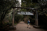 The entrance to Muir Woods National Monument, January 26, 2011.