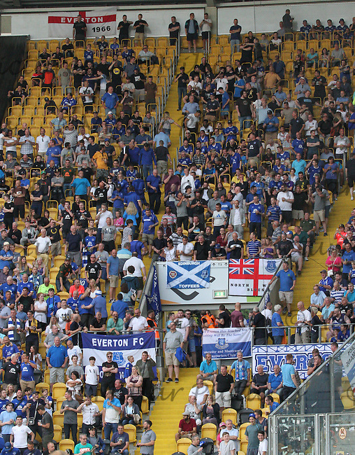 Everton fans before the Dynamo Dresden v Everton match in the Bundeswehr Karriere Cup Dresden 2016 played at the DDV Stadion, Dresden on 29.7.16.