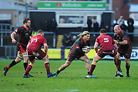 Richard Hibbard of Dragons in action during the Guinness Pro14 Round 14 match between the Dragons and Munster Rugby at Rodney Parade in Newport, Wales, UK.  Saturday 26 January  2019