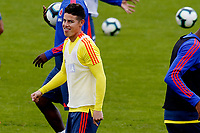 BOGOTA, COLOMBIA - JUNE 6: Colombia's James Rodriguez during a training session of the national soccer team on June 6, 2019 in Bogota, Colombia will face Peru on Sunday before they start their Copa America campaign where the team will face Argentina, Paraguay and Qatar on their first stage of the Copa America Brazil 2019. (Photo by VIEWPRESS/Leonardo Muñoz)