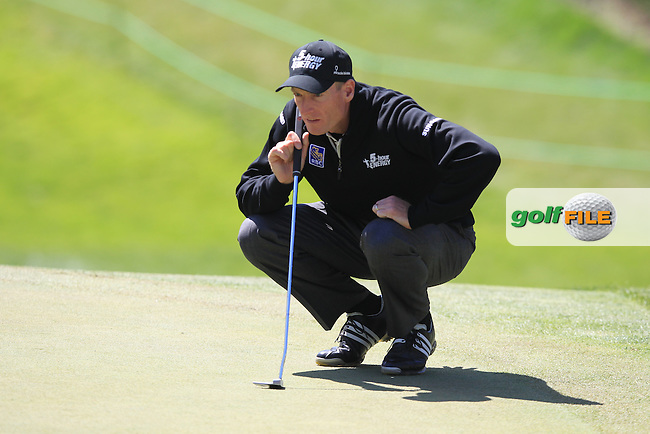 Jim Furyk (USA) lines up his putt on the 18th green during Friday's Round 2 of the 112th US Open Championship at The Olympic Club, San Francisco,  California, 15th June 2012 (Photo Eoin Clarke/www.golffile.ie)