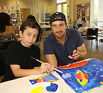 One Life To Live Josh Kelly paints with Noah at the Painting Party on May 15, 2011 on Marco Island, Florida - SWSL Soapfest Charity Weekend May 14 & !5, 2011 benefitting several children's charities including the Eimerman Center providing educational & outreach services for children for autism. see www.autismspeaks.org. (Photo by Sue Coflin/Max Photos)