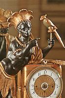 France/17/Charente Maritime/La Rochelle: Musée du Nouveau monde, pendule dite au nègre, allégorie de l'Amérique 19ème siècle (Détail)