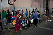 Los Angeles, California..March 24, 2012....LA's skid row, the home of up to 5,000 homeless people, many who are veterans and live on dozen or so streets that define the area. ....Skid row is rarely policed as drugs such as marijuana, crack cocaine, methamphetamine and heroin are sold and used openly on the streets.
