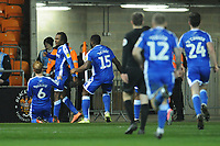 Gillingham's Regan Charles-Cook celebrates scoring his side's second goal <br /> <br /> Photographer Kevin Barnes/CameraSport<br /> <br /> The EFL Sky Bet League One - Blackpool v Gillingham - Tuesday 11th February 2020 - Bloomfield Road - Blackpool<br /> <br /> World Copyright © 2020 CameraSport. All rights reserved. 43 Linden Ave. Countesthorpe. Leicester. England. LE8 5PG - Tel: +44 (0) 116 277 4147 - admin@camerasport.com - www.camerasport.com